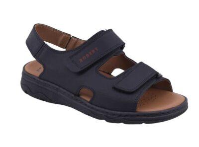 Sandalo regolabile in pelle con doppio velcron
