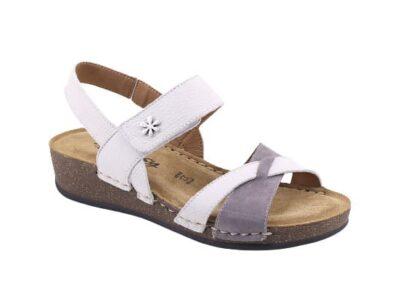 Sandalo regolabile con sottopiede imbottito