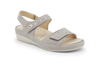 Sandal with adjustable strap and removable insole