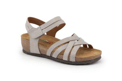 Sandalo con strappo e fasce incrociate