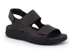Sandal with adjustable padded insole
