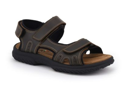 Adjustable sports sandal with padded insole