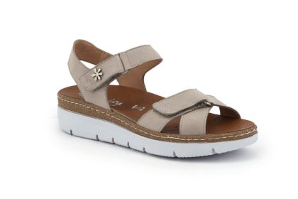 Adjustable sandal with double strap
