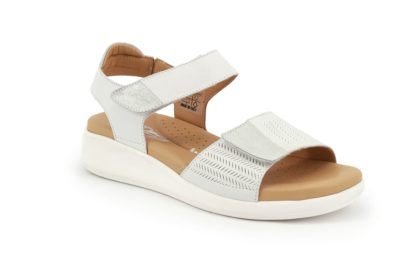 Sandal with adjustable strap and padded insole