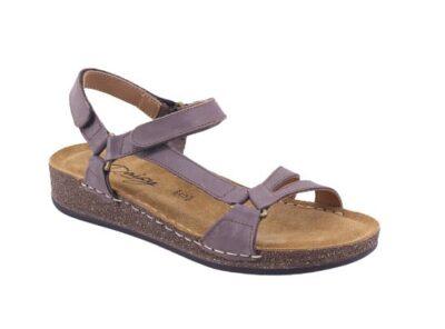 Sandalo con doppio strappo regolabile