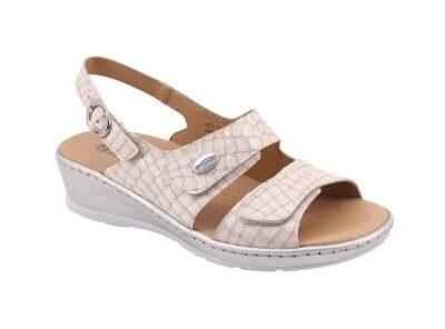 Sandalo regolabile doppia fascia sottopiede imbottito