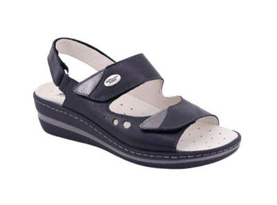 Sandalo regolabile doppia fascia sottopiede estraibile