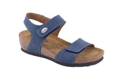 Sandalo con strappo regolabile e sottopiede estraibile
