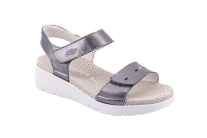 Sandalo doppio strappo con sottopiede imbottito